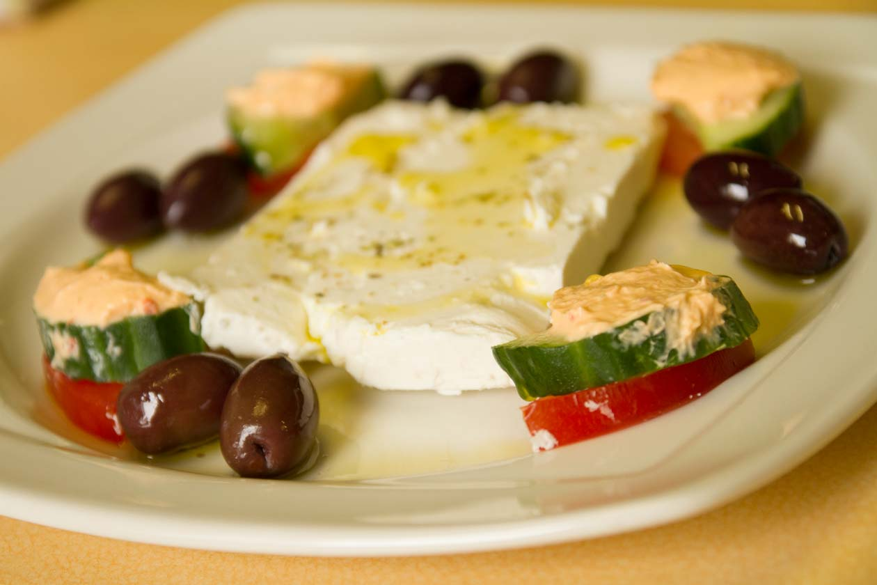 Feta Cheese and Olive Plate